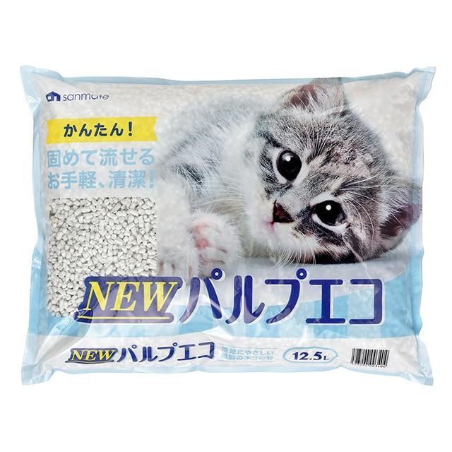 猫砂 パルプエコ 1ケース(12.5L*4個) 4523294003404 サンメイト 紙の猫砂 猫用品 猫 ネコ  猫の砂 ペット用品 インスタ映え 可愛い 安い 人気 トイレ雑貨 ネコ ペット用 猫用 紙 ねこすな
