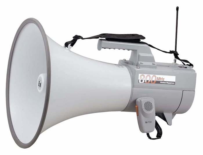 【増税による値上げはしていません】TOA ワイヤレスメガホン ER-2830W 30Wのホイッスル音付ショルダー型メガホン 選挙 街頭演説 候補者1人演説 イベント行事 防災 避難訓練 【K】