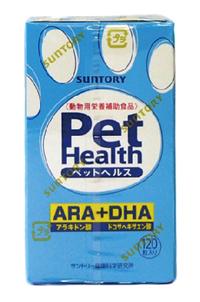 三ビグ【全国送料無料】【代引・同梱不可】【2個セット】<共立製薬> ペットヘルスARA+DHA 犬用 120粒入