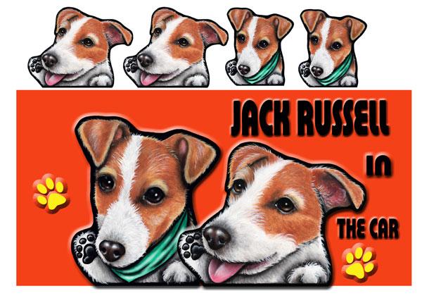 ジャックラッセルテリア グッズ 雑貨 ぬいぐるみのようなソフトなタッチの画像 送料無料 名入れ 犬 ステッカー 激安特価品 シール ネーム入れ不可 206 ストアー ジャックラッセル 車用ステッカー
