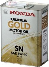 高出力エンジン向け100%化学合成高性能エンジンオイル ホンダ純正エンジンオイル ウルトラGOLD(ゴールド) 5W40 4Lx6缶セット【代引不可】