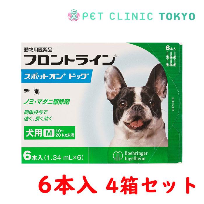 【送料無料】フロントラインスポットオンDOG M 6P 4箱セット