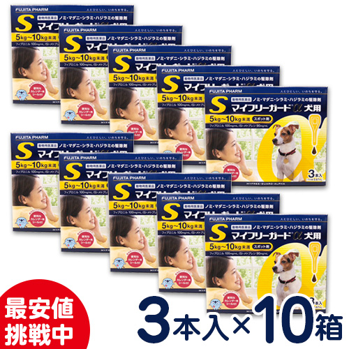 特価SALE!マイフリーガードα 犬用 S(5~10kg未満) 3本入り×10個セット ノミ・マダニ駆除剤