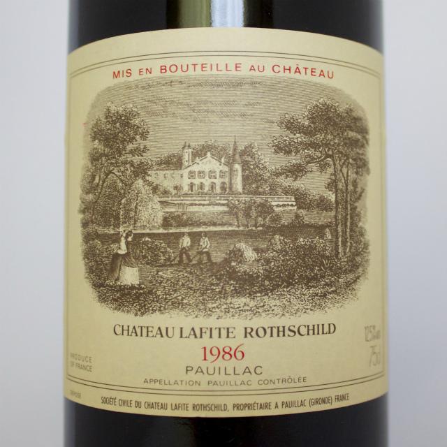 送料無料 [1986]シャトー・ラフィット・ロートシルト Ch.Lafite Rothschild パーカー100点 ボルドー