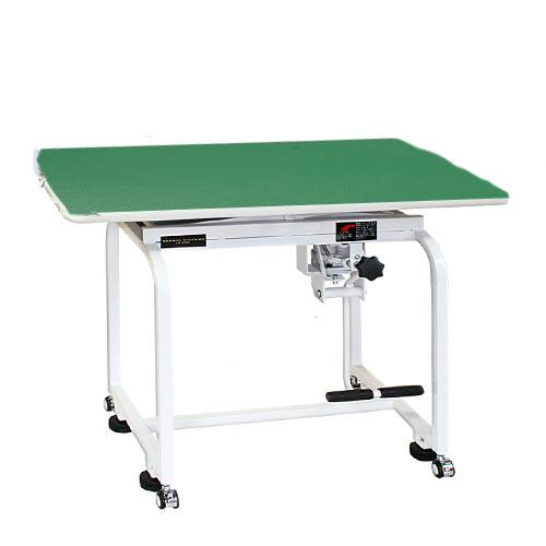 【代引不可】油圧式トリミングテーブル X-900 天板グリーン