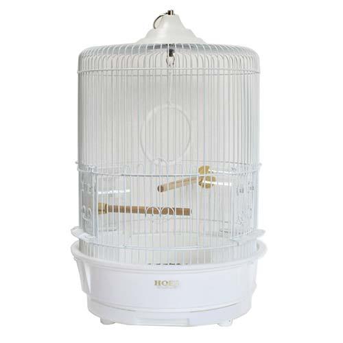 【代引不可】HOEI R-440M-P 丸篭 (白色塗装金網&ホワイトボトム)