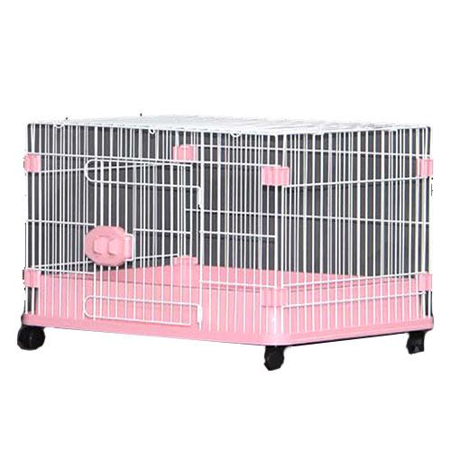小型犬を飼うのに最適 正規品スーパーSALE×店内全品キャンペーン 購入 代引不可 GB Sクラス ホワイト金網 D-07 ピンクボトム 犬用ケージ