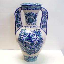 年中無休 ■スペイン陶器■グラナダ両手付き花瓶 大 おすすめ