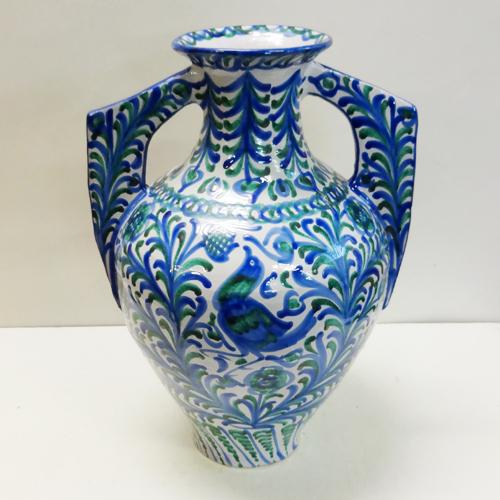 ■スペイン陶器■グラナダ両手付き花瓶