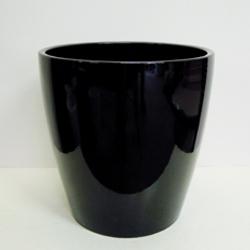■オリジナル陶器鉢カバー■《送料無料》オリジナル スタイリッシュ陶器鉢カバー 10号鉢用【CT-1】ブラック