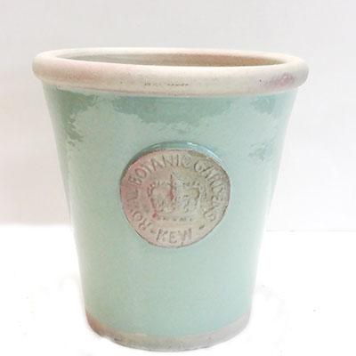 ■英国キューガーデンコレクションプレミアム釉薬鉢カバーブルー直径19cm