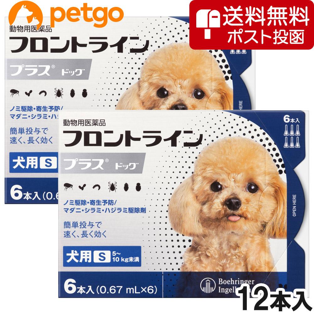 ネコポス 同梱不可 2箱セット 犬用フロントラインプラスドッグS 動物用医薬品 無料サンプルOK 5~10kg 販売実績No.1 6本 あす楽