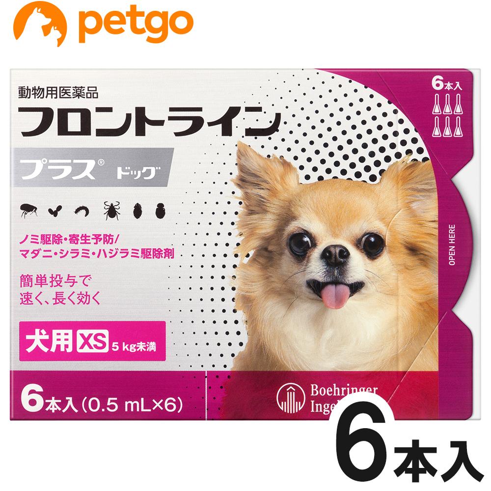 人気上昇中 犬用フロントラインプラスドッグXS 5kg未満 6本 動物用医薬品 人気上昇中 6ピペット あす楽