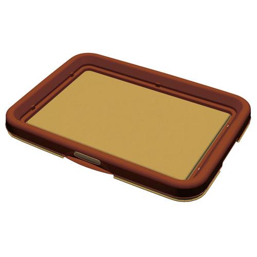 片手で開閉できるのでシーツ交換が簡単 使いやすいフラットタイプ ペティオ 片手でらくらく ドッグトレー ディスカウント ブラウン 茶 樹脂 美品 トイレトレー レギュラー 犬 Petio 犬用トイレ