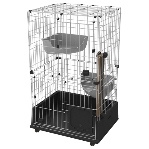 アドメイト ヴィラフォートキャットサークル ケージ 2段 ステップ ゲージ 猫用 金属 猫 ネコ シックなカラーとデザインがスタイリッシュな空間を演出! Add.mate