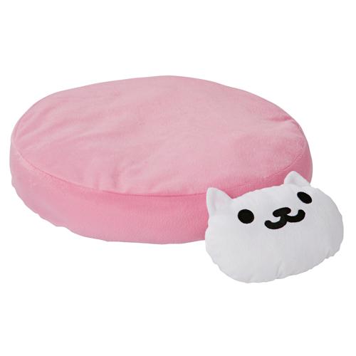 ペティオ ねこあつめ あごまくら付 クッション ピンク しろねこさん 猫用ベッド ポリエステル ネコ 短毛猫 長毛猫 あのクッション ぬけ毛がからみにくい生地 手洗いOK Petio