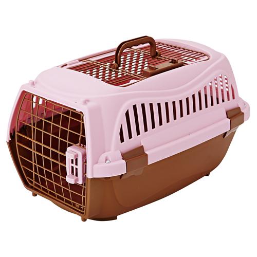ドアを外してハウスとしても!ドアを外すとハウスとして使用可能/上面ドアで出し入れ便利/付属ネジでしっかり固定できる ペティオ 2ドアスマイルキャリー ピンク 折りたたみ ペットキャリーケース M 犬猫用 イヌ ネコ ~10kg ポリプロピレン ドア 鉄 ロック バックル ABS樹脂 ハンドル Petio