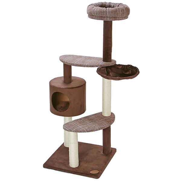 アドメイト 猫のおあそびポールチェック ハイタイプ 爪とぎ付 猫用 おもちゃ 一人遊び キャットタワー 送料無料 全猫種 ネコ ~8kg Add.Mate