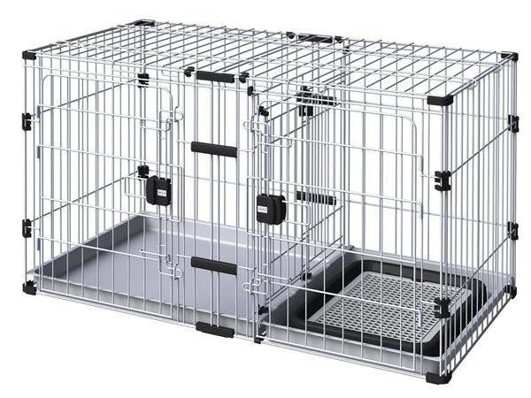 アドメイト ヴィラフォート 2ルームパピーサークル 子犬用 サークル 室内 金属 犬 全犬種 Add.Mate