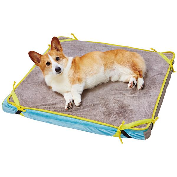 ペティオ zuttone ずっとね 寝返りが打ちやすい高反発ファイバーベッド 洗える防水マット付 中 M 犬舎・運搬 シニア期~介護期 全犬種 猫 ネコ イヌ ~25kg 寝たきりや 横になることが多くなったときの快適な寝床に Petio