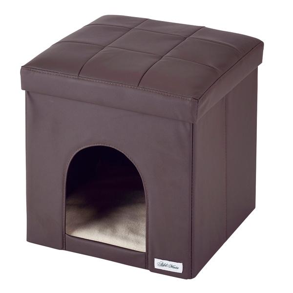 アドメイト 引っかきキズに強い ハウス&スツール レギュラー ブラウン 超小型犬~小型犬 猫兼用 ~80Kg 布製 Add.mate
