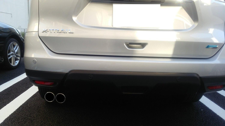 エクストレイルT32専用マフラーカッター【新型エクストレイルT32パーツ専用設計2本出しマフラー