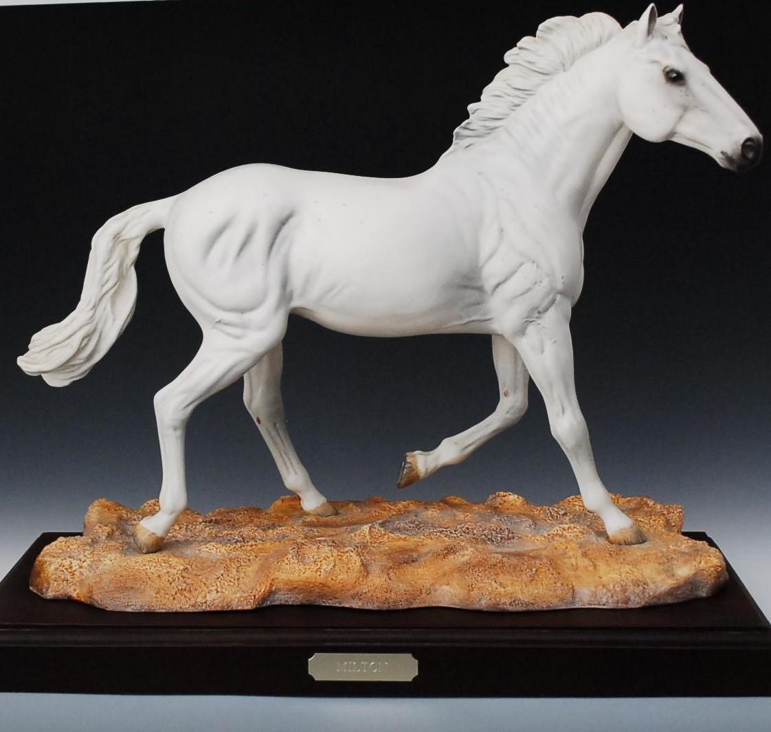ロイヤル・ドルトン ミルトン 大型 馬 ホース 置物 限定 DA245 milton 白馬 ホワイトホース フィギュリン Royal Doulton 英国製 イギリス