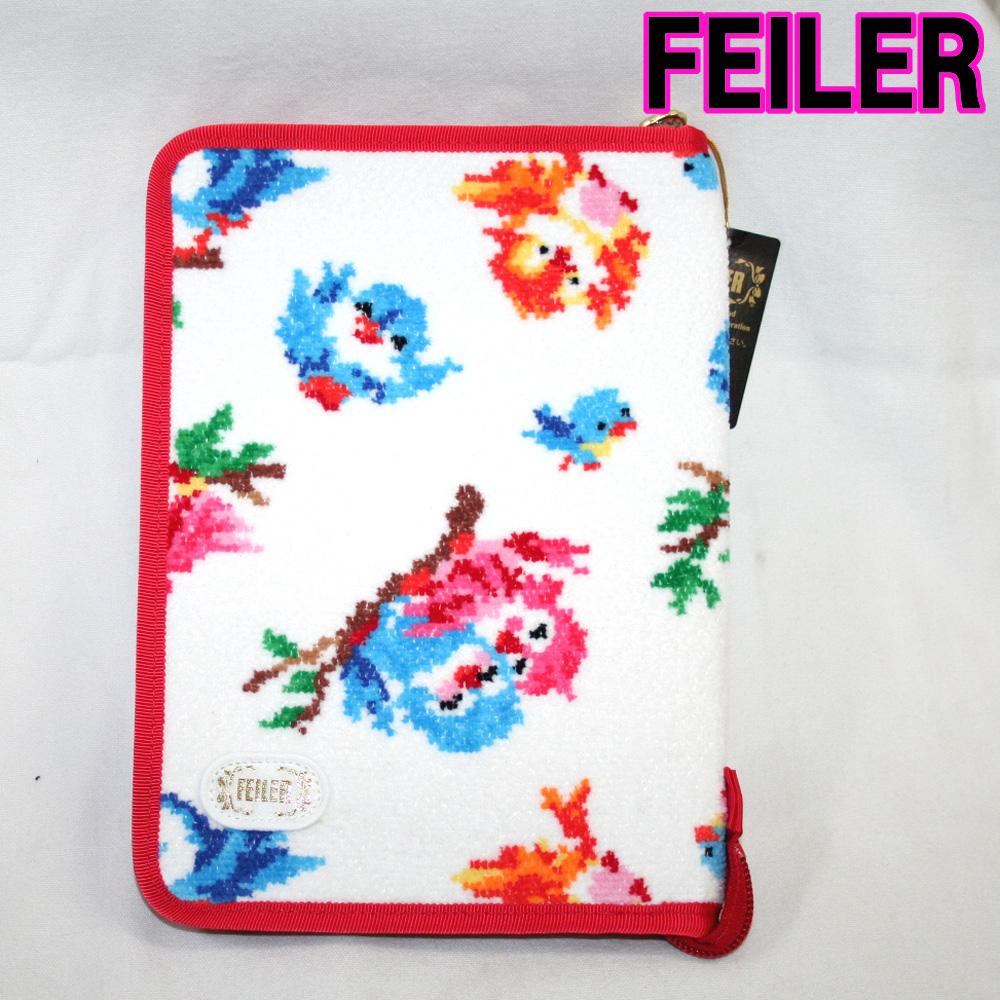 フェイラー マルチケース 母子手帳ケース 【フェイラー正規品】 FEILERフェイラー クライネフォーゲル 18203401 ホワイト 24cm×17cm×2cm
