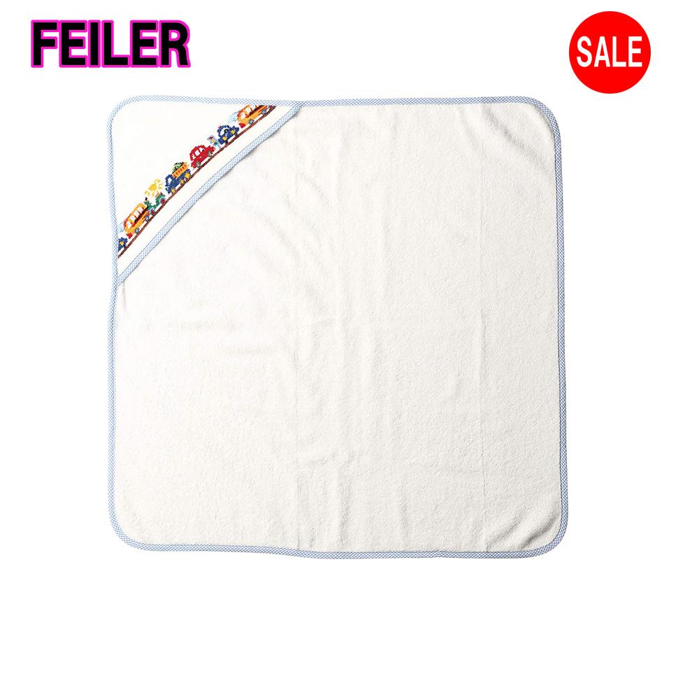 フェイラーおくるみ  (フェイラー) FEILER 【正規品】 ファンドライブ おくるみ ホワイト (約) タテ73×ヨコ73cm、フード寸 19cm