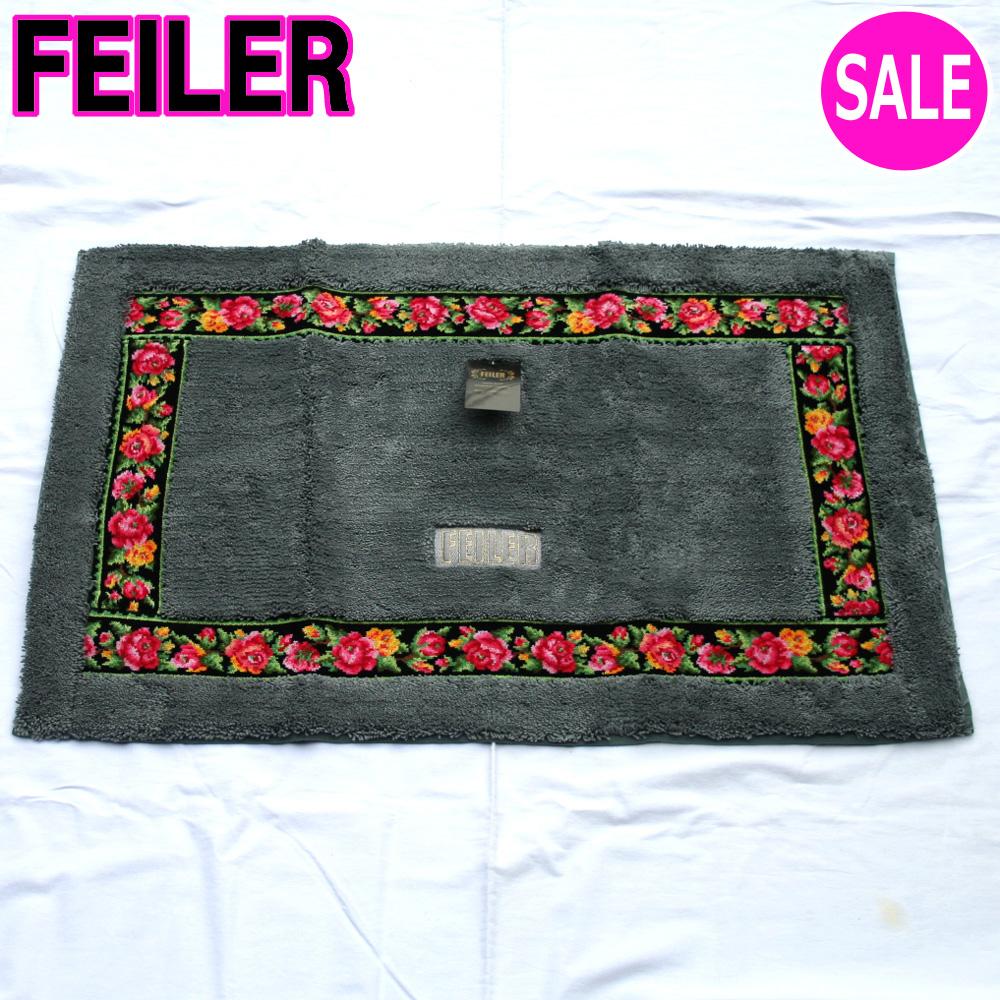 FEILER フェイラーマット【レイシーローズ】フェイラーマット57cm×85cmグレー