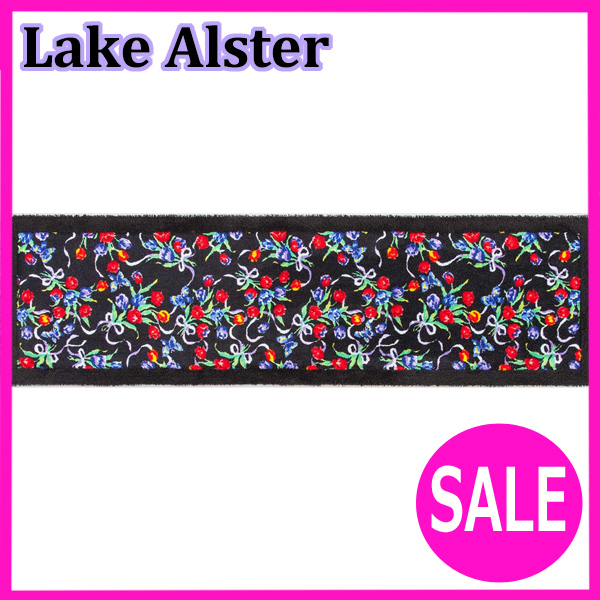レイクアルスター キッチンマットLL 50cm×240cm (チューリップ)LAKE ALSTER 【レイクアルスター】(ブラック)