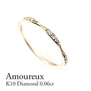 送料無料 指輪 K10 K18 ダイヤモンド10金 18金 ダイヤモンド0.06ctリング 10金 18金 最安値 ダイヤモンド指輪 ホワイトゴールド 重ねつけ 細身 イエローゴールド 透かし ギフト 一粒 プレゼント シンプル 華奢 ピンクゴールド 上品