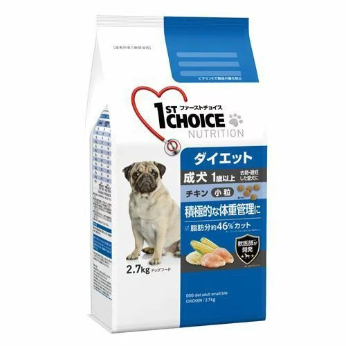 肥満が気になる愛犬の積極的な体重管理におすすめ☆4994527851800 ファーストチョイス 定価の67%OFF 成犬小粒 2.7kg チキン ダイエット 至高