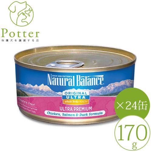 【ナチュラルバランス】猫用 ホールボディヘルス チキン170g×24缶 [グルテンフリー]