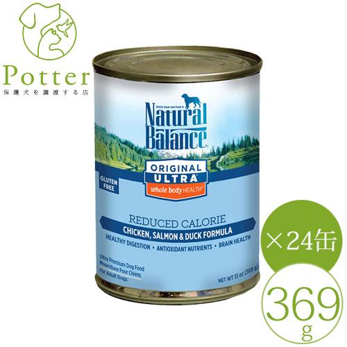 【ナチュラルバランス】犬用 リデュースカロリー 369g×24缶