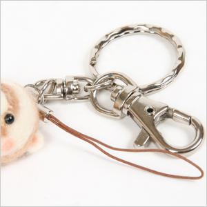 Chibi Fu wool ferret! Key rings & straps
