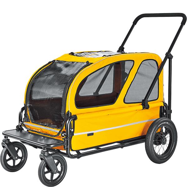 【送料無料】【正規品】エアバギー ~ドッグカート キャリッジ+ルーフ スマイルイエロー[Air Buggy for Dog~CARRIAGE]