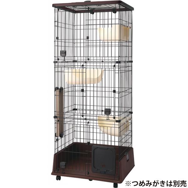 【送料無料】necoco 仔猫からのしつけにもぴったりな キャットルームサークル 3段タイプ