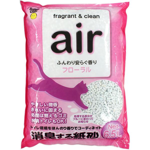 消臭する紙砂 air フローラル 6.5L〔19052204ct〕