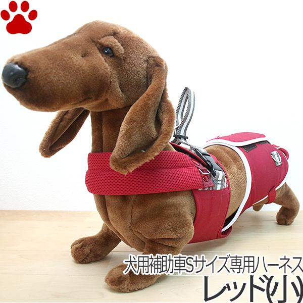 【0】[お取り寄せ] ペットアドバンス ドギーサポーター 専用ハーネス Sサイズ用 小 レッド 単品 小型犬用日本製 吊り紐付き 後ろ足 介護 補助 散歩 犬 ピカコーポレイション