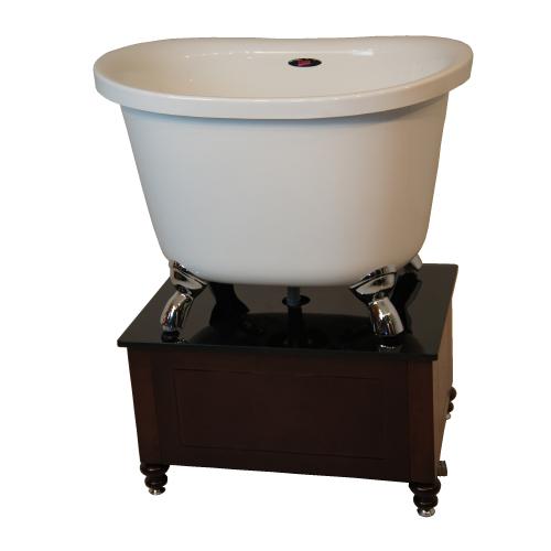 キャンペーン対象 ペットシンク ペットバス ドッグバス ドリーム産業 ハーベスト800(専用木製台付) 猫脚 貨物便 業務用 バスタブ 浴槽