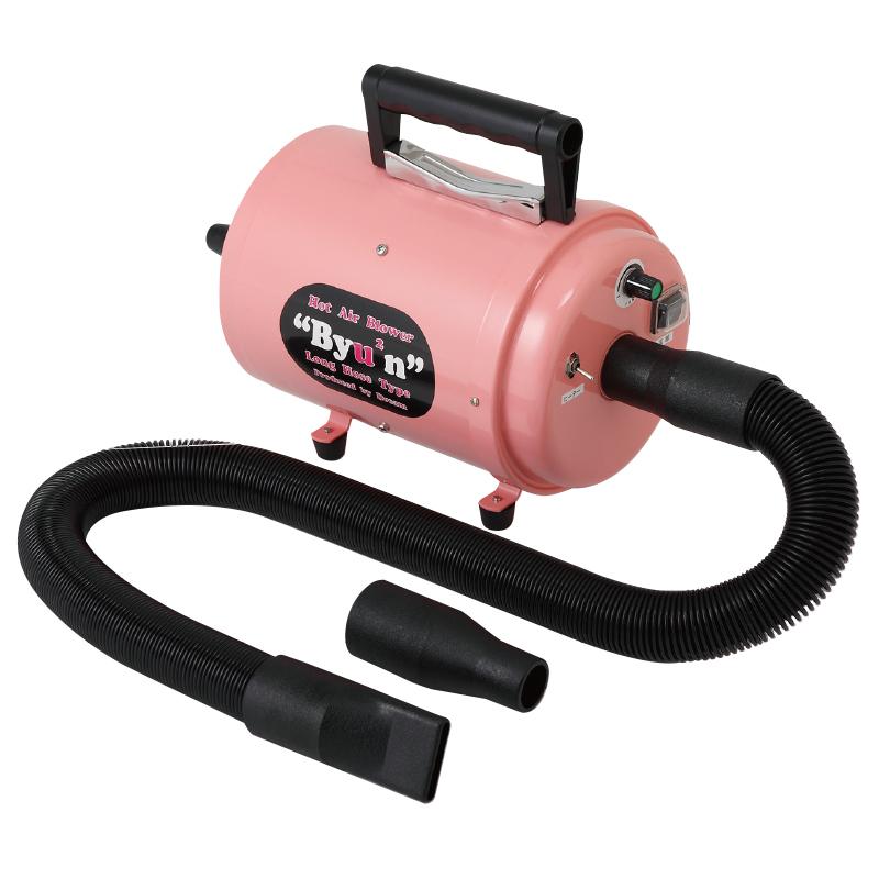 ピンクが可愛いヒーター付ホースドライヤー 送料無料 ペット ブロアー ドリーム産業 Hot Air Blower 高い素材 Byu2n ビューン ピンク 犬用 ブロワー ドライヤー 日本正規品 ヒーター付き