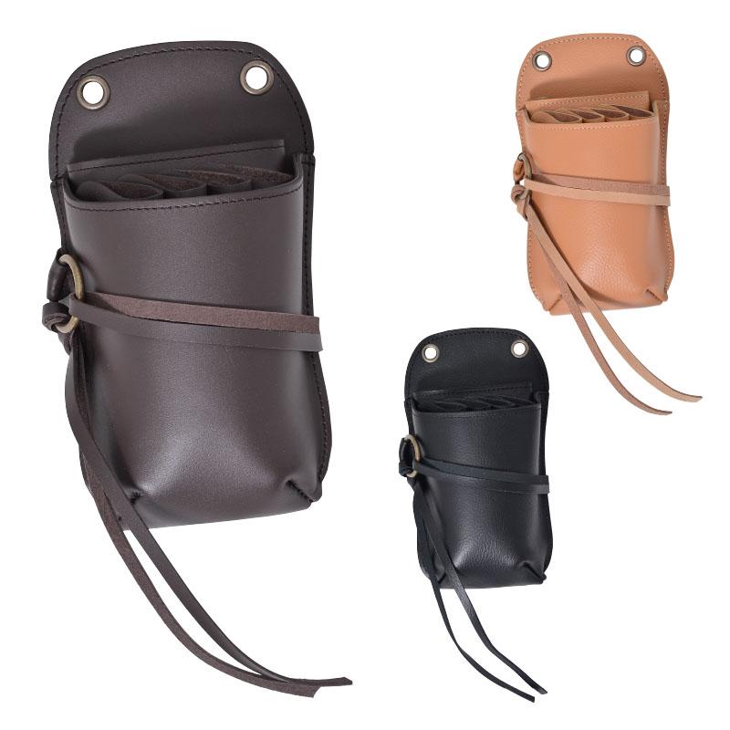 シザーベルト シザーバッグ 4丁用 DTR-2 ハサミ 美容師 トリマー プロ用 業務用 サロン用 レザー