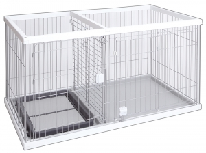 The dog room circle wide white dog circle gauge discipline that I can train of the restroom