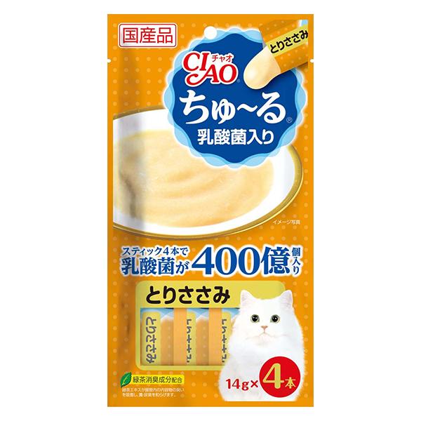 【いなば】CIAO ちゅ~る 乳酸菌入り とりささみ 猫 おやつ 14g×4本