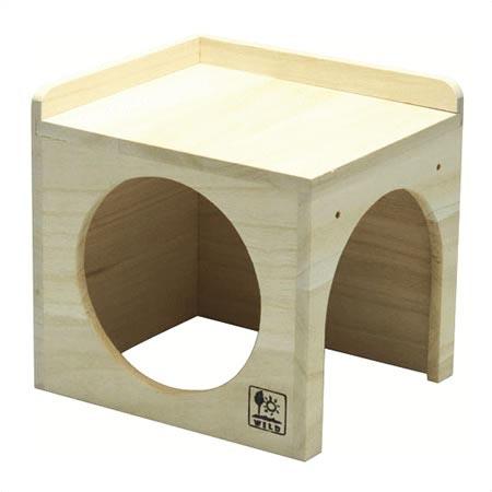 三晃 サイコロハウス 小動物用 木製ハウス