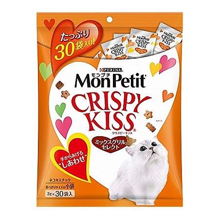【ネスレ】【猫用おやつ】 ネスレ モンプチ クリスピーキッス ミックスグリルセレクト たっぷりサイズ 90g(3g×30袋)