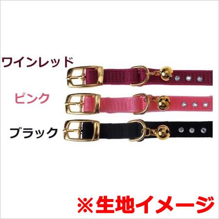 【メール便】キャティーマン 猫用のびるカラーM ブラック/ピンク/ワインレッド