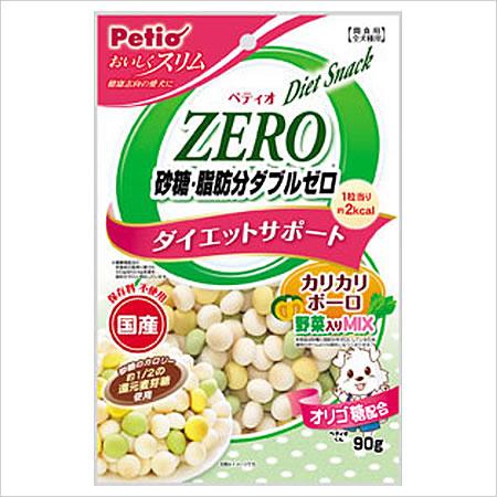 砂糖 脂肪分ゼロなのに美味しい ペティオ おいしくスリム マーケット 脂肪分ダブルゼロ 野菜入りミックス 90g カリカリボーロ 付与