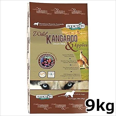 ●Y.K.エンタープライズ アディクション ワイルドカンガルー&アップル(カンガルー肉) グレインフリードッグフード 9kg